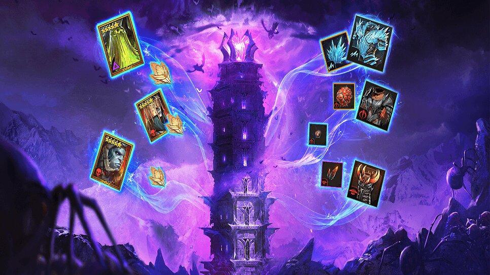 Артефакты с Башни Рока в Raid Shadow Legends